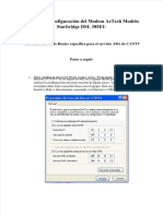 Vdocuments.mx Proceso de Configuracion Del Modem Aztech Modelo Starbridge Dsl 305eu