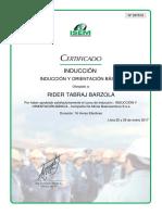 Certificado de Seguridad Minera