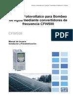 Manual Solar Drive CFW500 V07.3X
