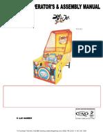 Slam n Jam Jr Junior Kids Basketball Arcade Game Operators Service Manual Laigames