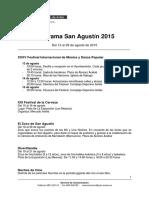 Programa San Agustín 2015