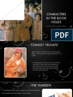 characters in the book holes