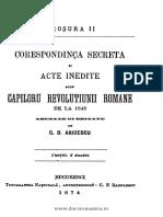 Corespondinţa secretă şi acte inedite alle capiloru Revoluţiunii Române de la 1848. Broşura II.pdf