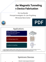Perpendicular Magnetic Tunneling Junction Device Fabrication by Onri Jay Benally