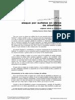 Ataques Por Sulfatos en Obras de Albañileria