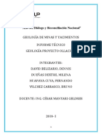 Ollachea Informe Yacimientos