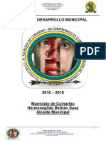 Plan departamental Municipio de Cumaribo 2016-2019