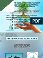 Grupo2 Evaluacion de La Calidad de Agua