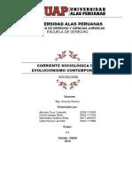MONOGRAFIA Corriente Sociologica Del Evolucionismo Contemporaneo