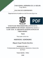 Bioestimulantes en Cacao