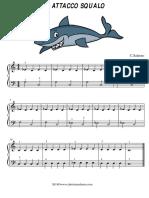 Attacco Squalo - Spartito per Pianoforte