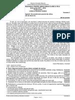 Romana.info.Ro.2682 EVALUAREA NATIONALA 2018 - Limba Romana - Subiect Si Barem