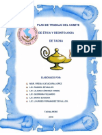 Plan de Trabajo de Los Comites de Ética y Deontologiandel Departamento de Tacna