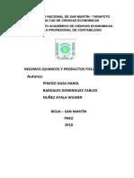 Ley de Control de Insumos Químicos y Productos Fiscalizados Ley n Listo