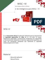 WISC IV Calificacion Aplicacion 2018