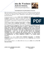 Junta de Vecinos Jesús de Nazaret Daniel Yordan Fernandez y Santa Cristina Pujols Pujols,