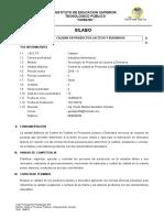 Silabo Control de Calidad de La Leche - Profesora Pardo Mariluz Geraldine