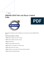 MID185 APM Fault Code Volvo Air Dryer Control Units