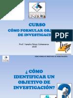 Presentación Curso Formulacion Objetivos 2015