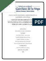 Monografia de gestion de seguridad y salud ocupacional en la empresa ipasa chincha 2018