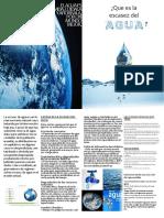 Diptico_Que Es La Escazes de Agua