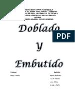 Proceso de Fabricacion (DOBLADO Y EMBUTIDO)