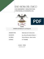 Diseño de Mezclas - Uac
