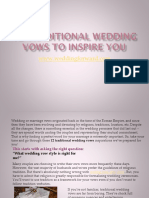 12 Traditional Wedding Vows To Inspire You