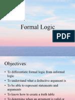 15. Formal Logic