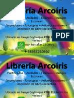 Tarjeta Libreria Arcoiris