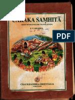Charaka Samhita Text With English Tanslation - P.v. Sharma