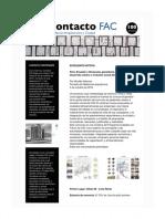 Contacto FAC 100 Fundaciòn Arquitectura y Ciudad