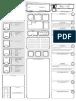 FICHA Class Character Sheet Fighter V13