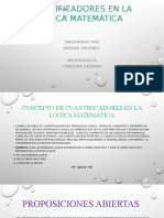Cuantificadores en La Lógica Matemática