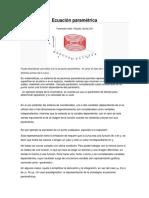 Ecuaciones Vectoriales Parametricas (1)