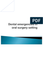 Dental Emergencies in Oral Surgery Setting