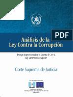 Analisis Ley Contra Corrupcion - Sejust