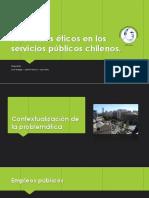 Problemas Éticos en Los Servicios Públicos Chilenos