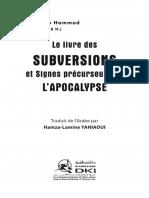 Le Livre Des Subversions Et Signes Precurseurs de L'apocalypse