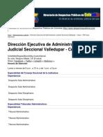 Directorio de Despachos Públicos de Colombia - Dirección Ejecutiva de Administración Judicial Seccional Valledupar - Cesar - 2012-10-10.pdf