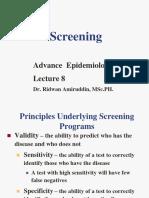 Screning Epidemiology WEEK 8 EPID LANJUT