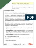 Instructivo Clasificación de Proyectos
