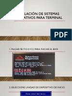 Instalación de Sistemas Operativos Para Terminal Converted