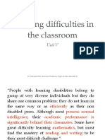 Learning Difficulties in the Classroom