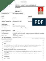 contoh kartu pendaftaran sscn