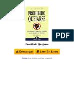 CBLF Prohibido Quejarse by Jon Gordon 8492452188