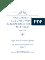 Procedimientos Especiales Para La Generacion de Variables Aleatorias