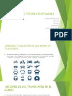 Instituto Tecnologiico de Oaxaca Sistemas de Transporte