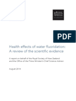 NZ Govt Report, Health-effects-Of-water-fluoridation Aug 2014