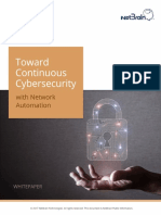 Toward Continuous Cybersecurity With Network Automation